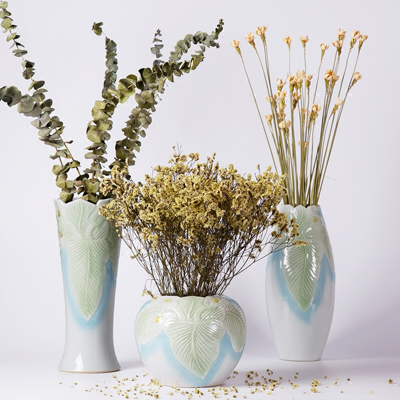 225 & Buy Pastoral creative fashion ceramic vase flower floral ...