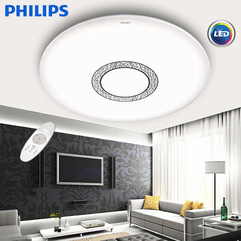 Buy Philips Led Ceiling Lamps Lighting The New Remote Control Dimmer Lamp  Living Room Bedroom Dining Hall Lights Ya Yue Yue Code In Cheap Price On ...