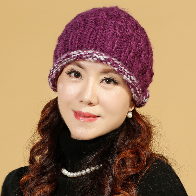 ae04c445d3a Buy Plus thick velvet elderly woman in winter hat wool hat handmade knitted  hat mother hat to keep warm in the elderly cotton cap in Cheap Price on  Alibaba. ...