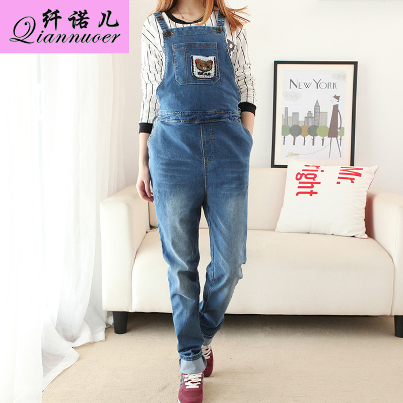 fe1eafbda19d Buy Pregnant women overalls spring maternity pants trousers korean pregnant  women loose denim overalls pants care of pregnant women pregnant belly jeans  in ...