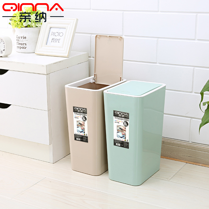 Pro satisfied thick bathroom large kitchen trash can lid plastic  wastebasket trash creative household trash can with a lid box