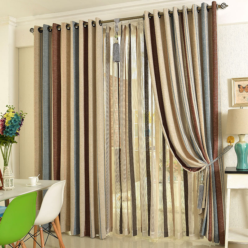 Buy Pure Cotton Linen Curtains Finished Fabrics Blackout Curtains Finished Custom Living Room Bedroom Windows And Mediterranean In Cheap Price On M Alibaba Com