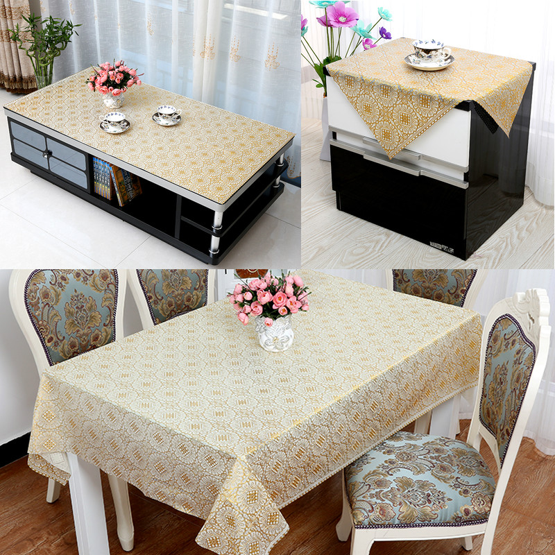Buy Refrigerator coffee table cloth cover towel small tablecloths bedside cabinet cover towel refrigerator cover cloth washing machine cover cloth table - coffee table cover