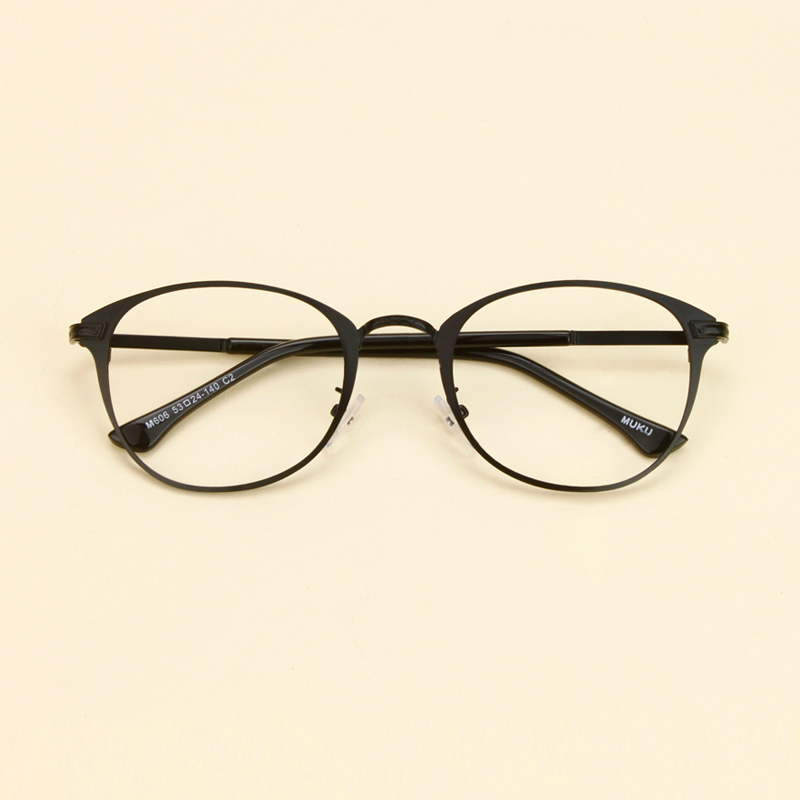 6e401bdfdb64 Round glasses frame female korean literary myopia glasses frame eyes influx  of students thin frame round frame retro plain mirror