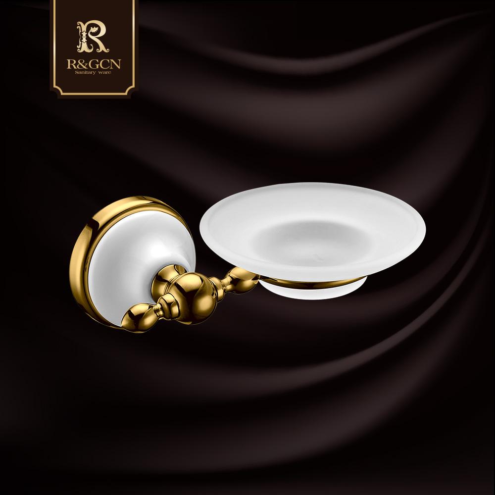 Buy Rgcn european gold antique bathroom soap dish soap holder ...
