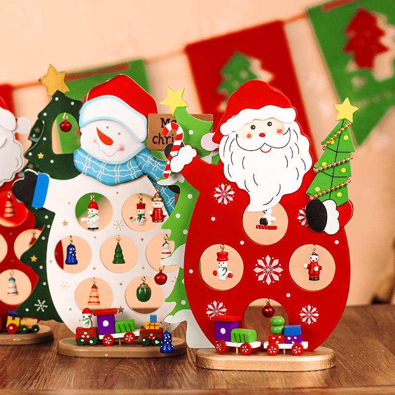 buy santa claus christmas snowman christmas decorations christmas woodiness ligneous mini desktop ornaments gift shop window ornaments in cheap price on