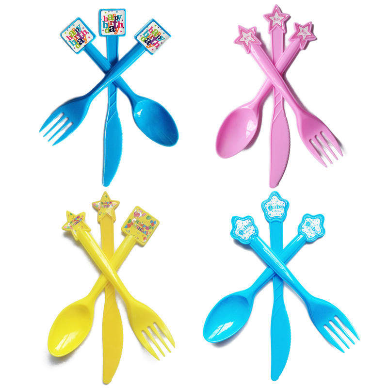 98805dc53bb6 Buy School children birthday party theme party supplies happy birthday  balloons happy men and women baby cutlery knife and fork spoon in Cheap  Price on ...