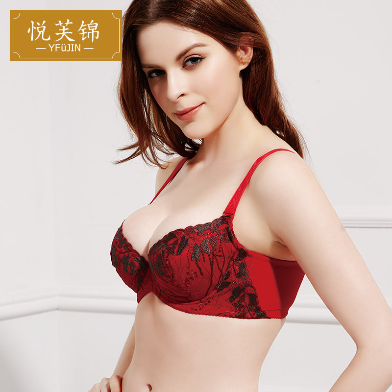 377caa854c Buy Sexy red bra panty set yue jin fu silk embroidery on thin under thick  gather close furu adjustable underwear briefs in Cheap Price on  m.alibaba.com
