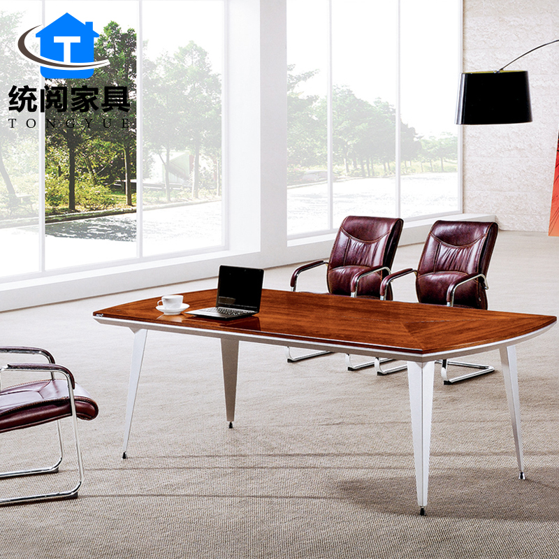 buy shanghai office furniture paint veneer conference table large and small conference table conference table meeting table desk minimalist modern in cheap - Small Conference Table