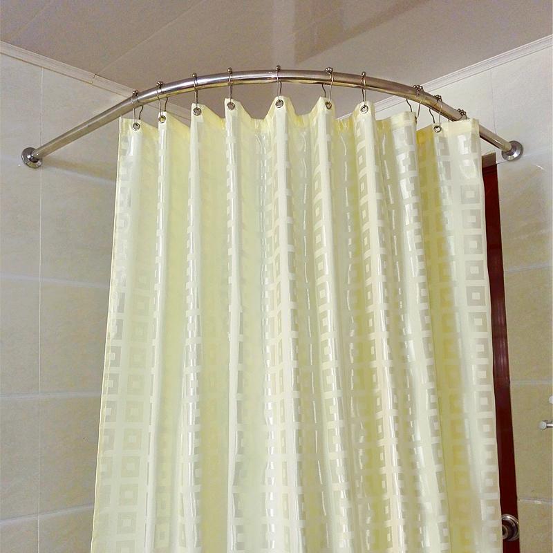 Buy Jia mo bathroom shower curtain rod curved shower curtain rod kit ...