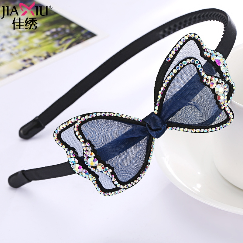 Buckle Korean Version Diamond Ties Crystal Ornaments Bands Headdress Hairband