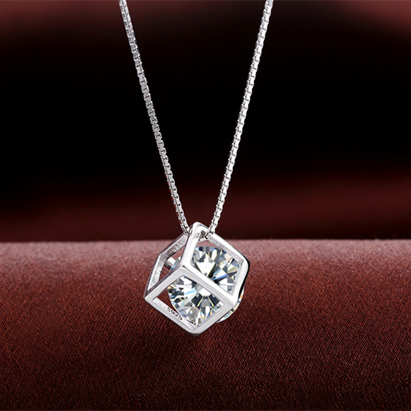 318ab8d04d Buy South korean female models fashion 925 silver necklace clavicle ...