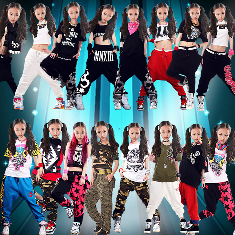 1df118dfc0b Summer fashion tide hip-hop hip-hop t-shirt modern jazz dance costume  female performers dance performances suit trousers d s