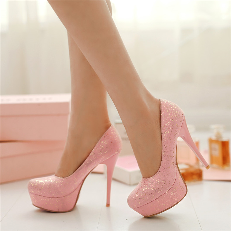 100% top quality discover latest trends 2019 clearance sale Buy Sweet nude pink princess super high heels waterproof ...