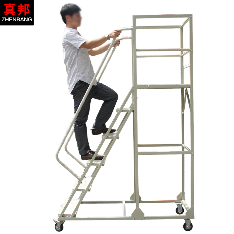 Buy Take A Car Supermarket Warehouse Climb The Ladder Stairs Mobile  Platform Ladder Moving Trolley Car Mute Round The Tallymen In Cheap Price  On M.alibaba. ...