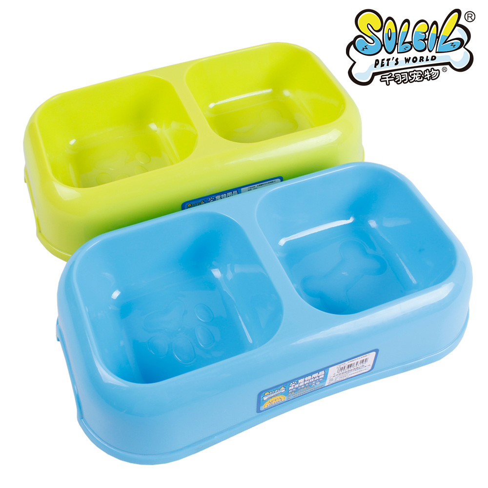 Dishes, Feeders & Fountains Double Cat Bowl Cat Supplies