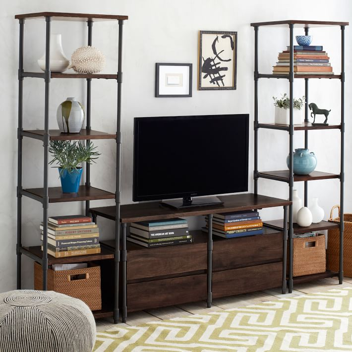 Buy American Iron Retro Minimalist Tv Cabinet Shelf Wood Bookcase Creative Desk Storage Display Rack Custom In Cheap Price On Malibaba