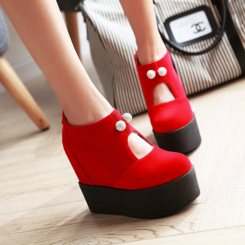 3bf4e62402c Buy The new autumn and winter boots red shoes waterproof platform shoes  platform shoes sexy super high heels boots martin boots in Cheap Price on  m.alibaba. ...