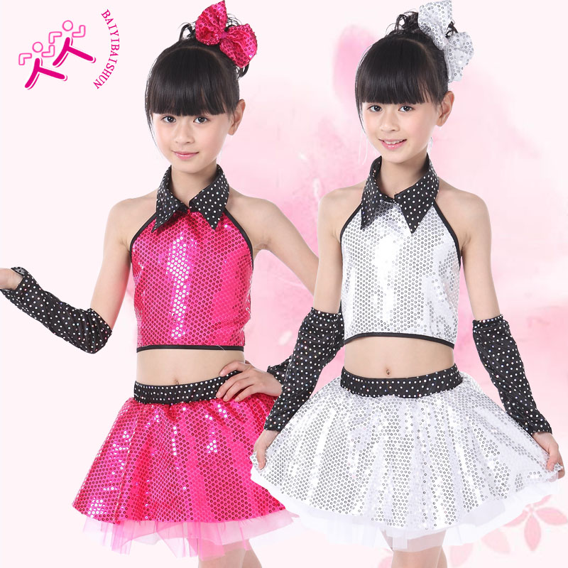 f0724313b Buy The new girls modern dance performance clothing sequined veil ...