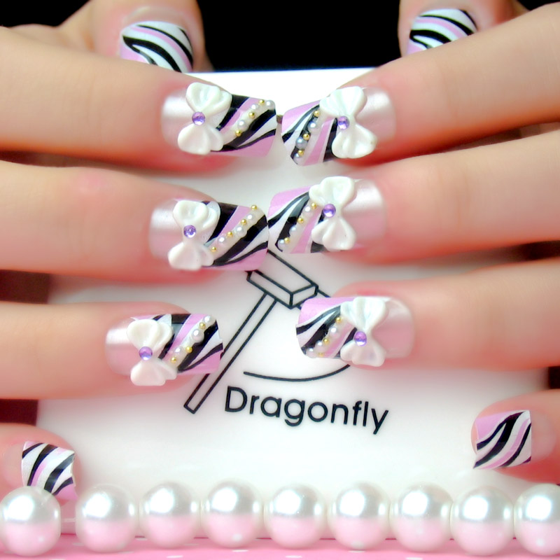 Buy The new japanese fake nails nail patch finished translucent ...