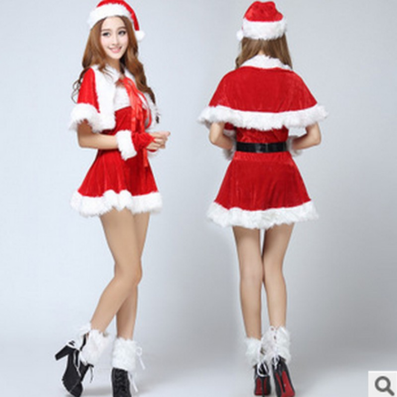 buy the new luxury sexy christmas dress christmas christmas dress christmas party dress pretending to be played dress students performing service in cheap