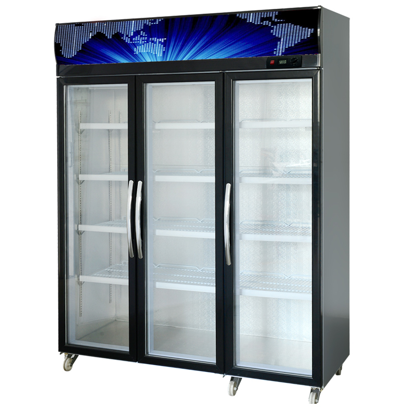 Buy Three Doors First Kitchen Straight Cold Refrigerated Display Cabinet  Fresh Cabinet Vertical Refrigerated Glass Display Cabinets Commercial  Refrigerators ...