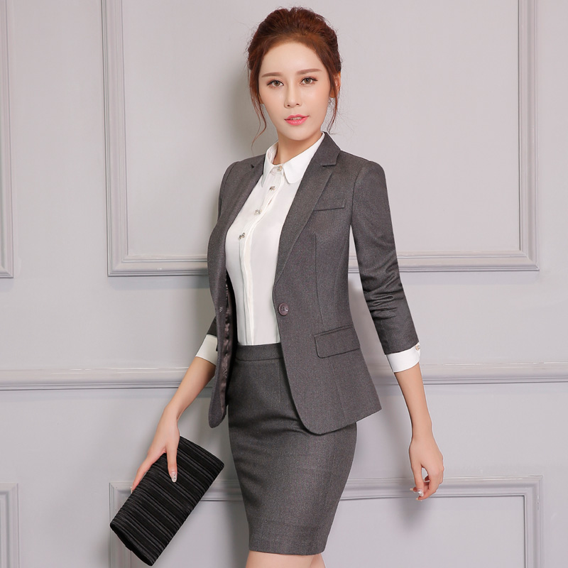 Buy Tooling Female Autumn Business Suits Career Suits Ladies Dress