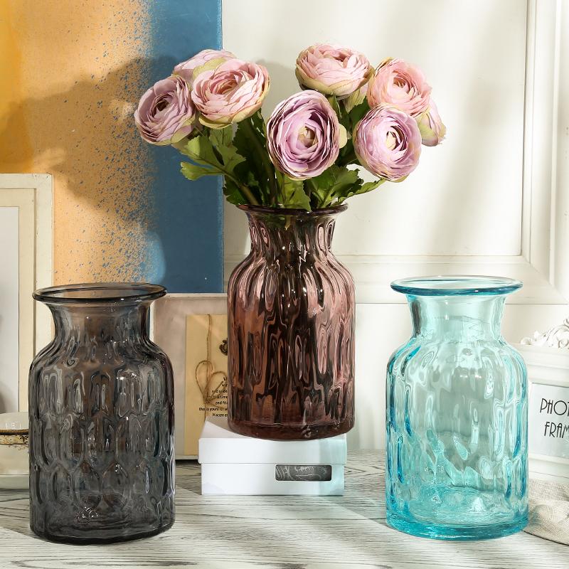 Alibaba & Buy Transparent colored glass vase glass vase european ikea ...