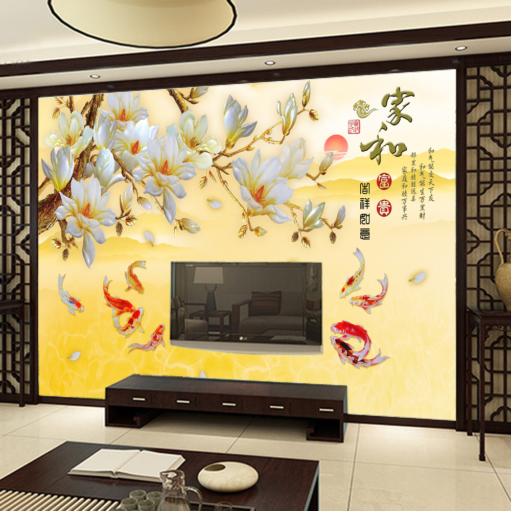 Buy 3d relief wovens chinese style bedroom living room sofa tv ...