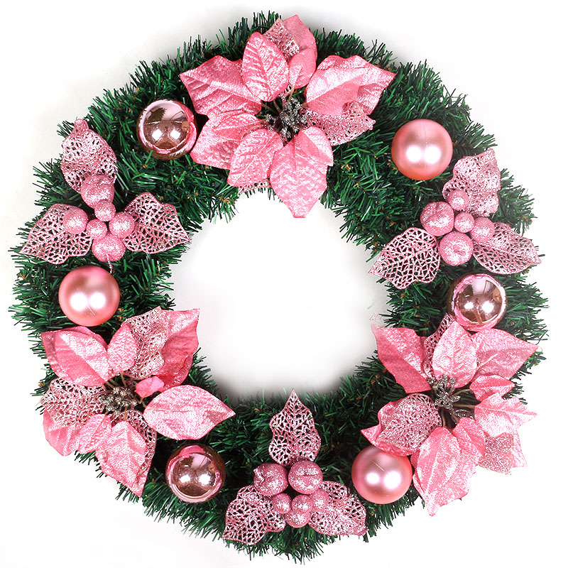 Us Xuan Christmas Wreath Decorated Door Hanging Ornaments 50cm Pink Circle Hotel Wall Hangings In Price On M Alibaba