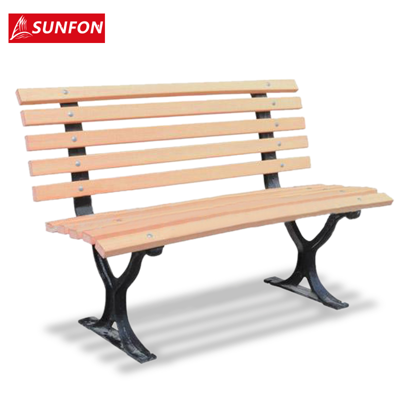 Buy Volcker Outdoor Garden Lounge Chair Bench Square Cast Iron Wood