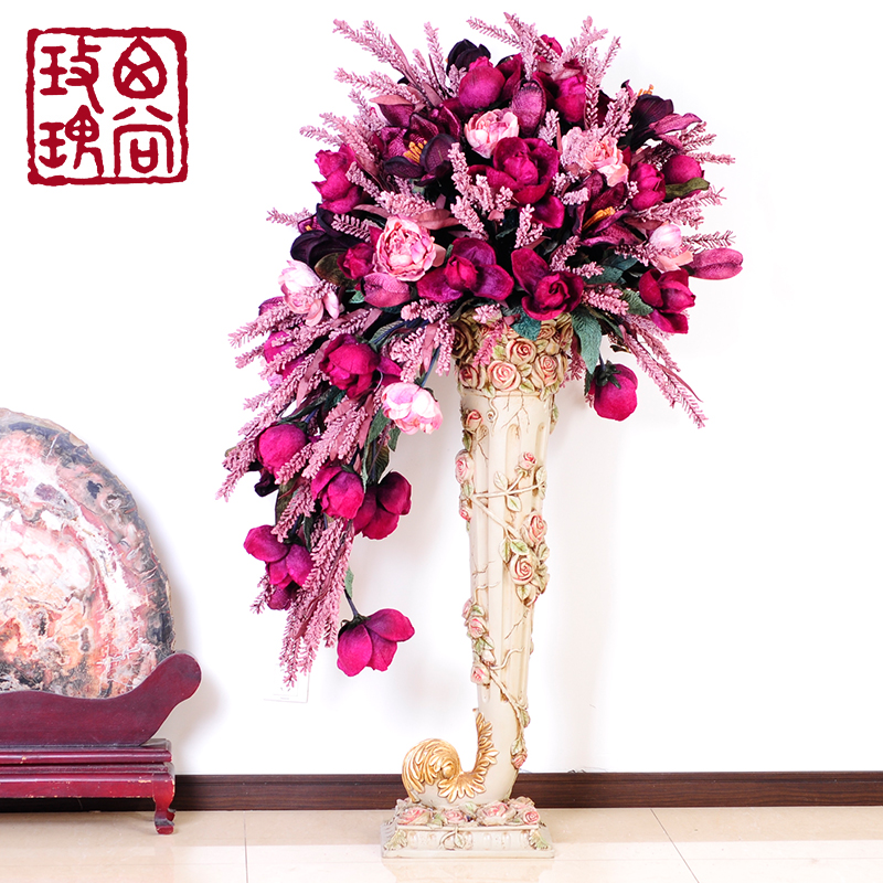Buy West Still Rose Continental Overall Floral Suit Artificial Flowers Living Room Floor Large Vase Floor Vase Decoration In Cheap Price On M Alibaba Com