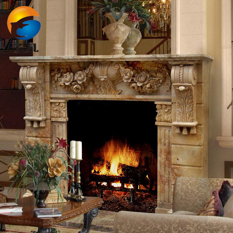 Buy Where The Sub Marble Fireplace Stone Fireplace Mantels