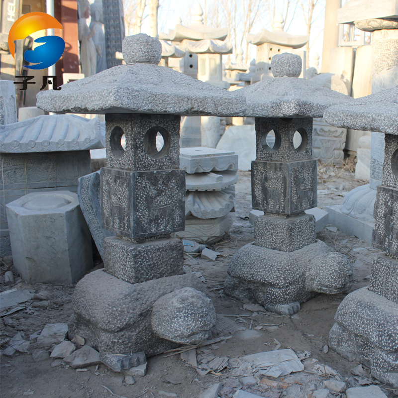 Buy Where The Sub Traditional Stone Patio Stone Lantern Bowlder Imitation  Of Ancient Lamp Lights Garden Lights Garden Lights Imitation Bluestone Stone  ...