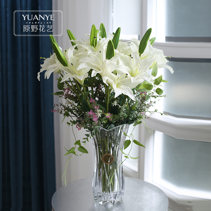 Buy Wilderness nordic minimalist study lily artificial flowers ...