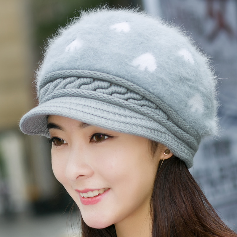 e6995e74ce3 Buy Winter hat female winter wool hat knitted hat korean version of the  thick warm leisure wild rabbit fur hat hat hat cold in Cheap Price on  m.alibaba.com