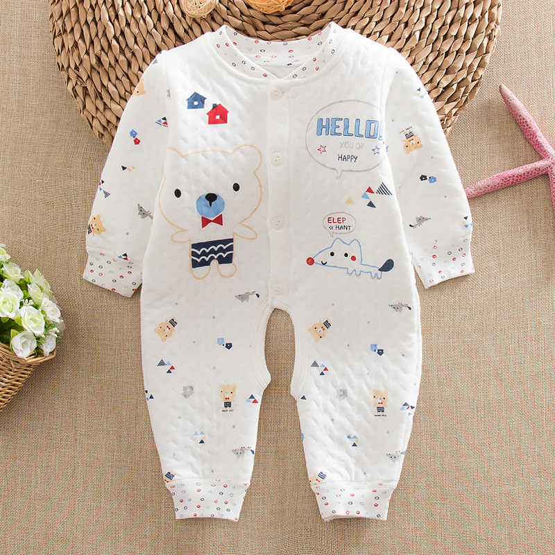814adcbd13af Buy Winter newborn baby warm open file leotard romper baby underwear ...