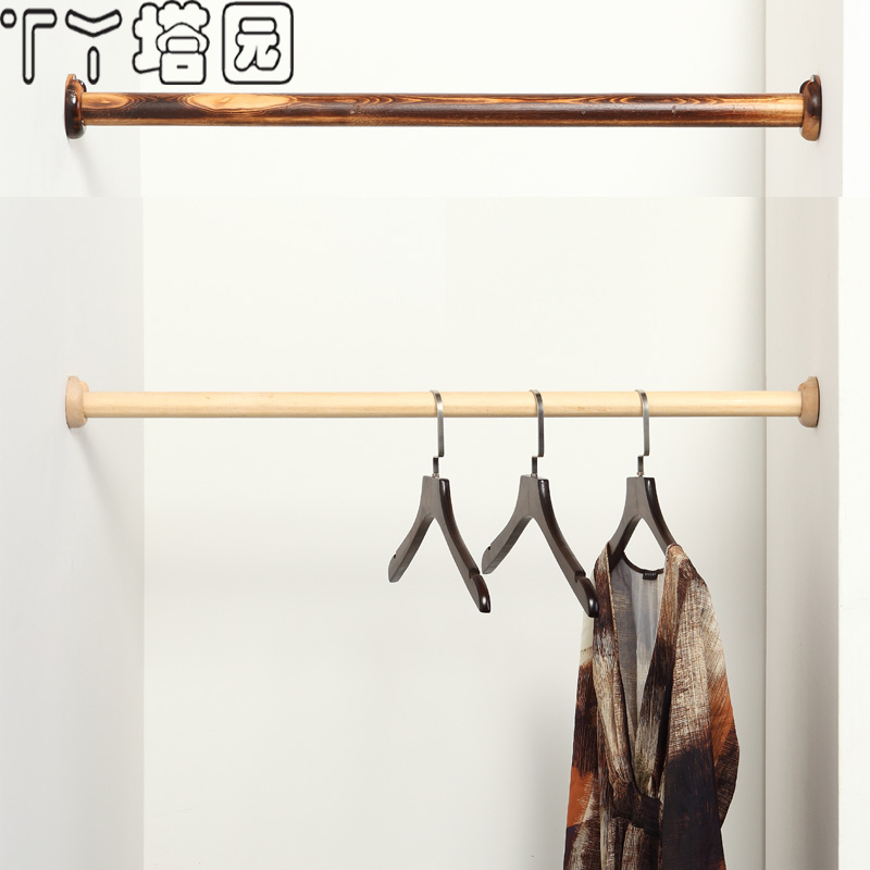 Buy Wood Wardrobe Closet Rod For Hanging Clothes Hangers Clothing