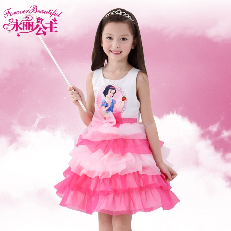 a5354a27b968d Yungli kids children's pink disney princess snow white dress girls  sleeveless dress cake skirt autumn
