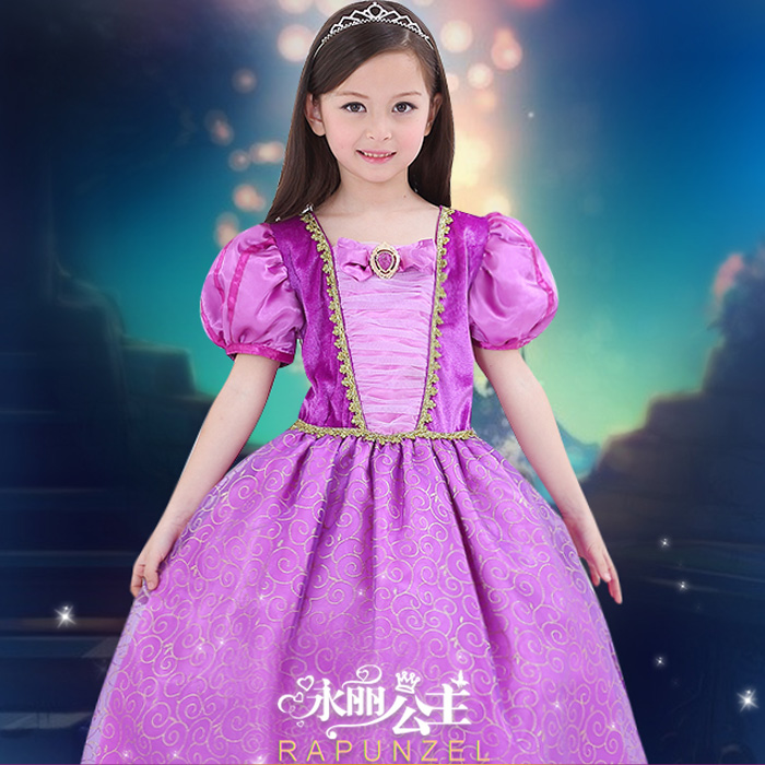 382c211d2725b Buy Yungli kids halloween purple rapunzel disney princess dress children  dress di adams nepalese music wear girls wedding in Cheap Price on  m.alibaba.com