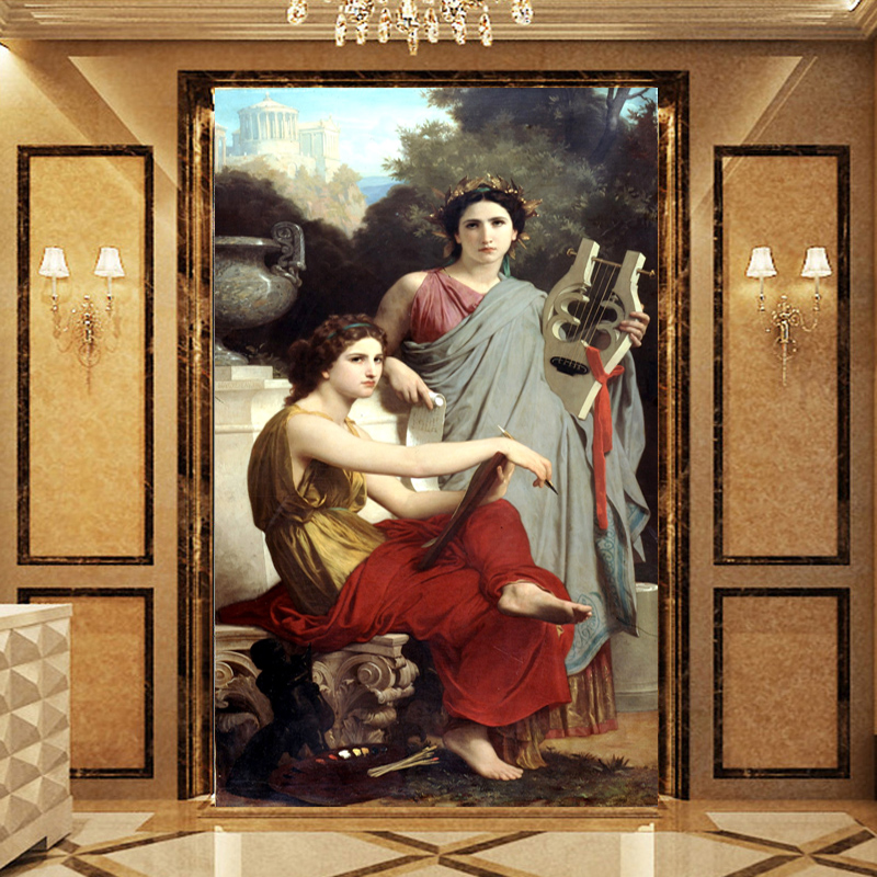 Buy Zhen Heart Home Aesthetic Mood Wallpaper Wallpaper Mural Painting The World Famous Painting Beautiful Harp In Cheap Price On M Alibaba Com
