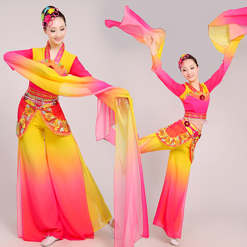 03543a122bd8 Buy Zi mei dai dunhuang flying sleeves dance costumes dance costume dance  folk dance costume dance party in Cheap Price on m.alibaba.com