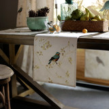 American Chinese cotton table runner embroidered fringed Nordic Light extravagance long tablecloths coffee table TV cabinet bedside cabinet cover fabric