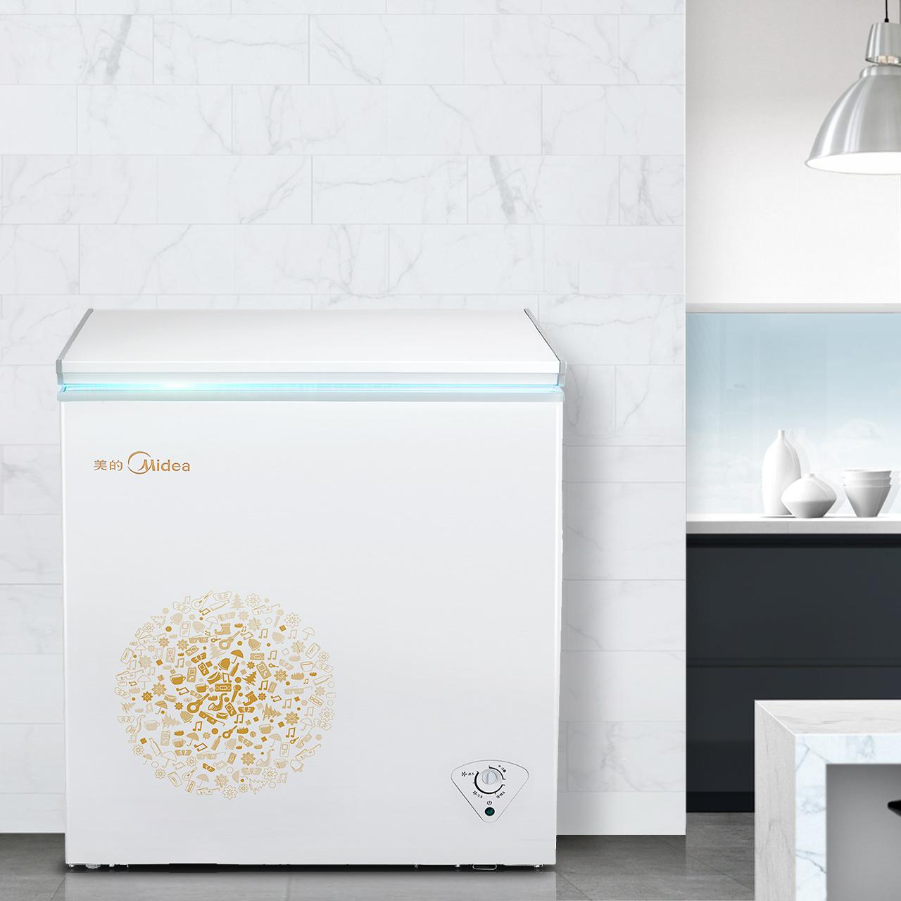 小冰柜冷柜节能省电冷藏冷冻小切换柜 E 143KM BC BD 美 Midea