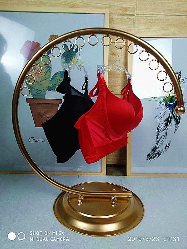 铁艺内衣架,内裤架胸罩展示架 文胸架半圆形店铺内衣挂钩内衣架