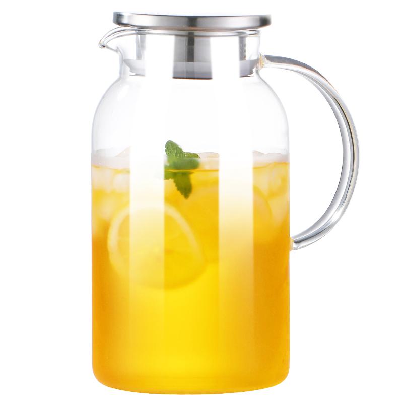 冷水壶玻璃凉水壶瓶大容量泡茶茶壶家用北欧耐高温晾白开水杯扎壶【图5】