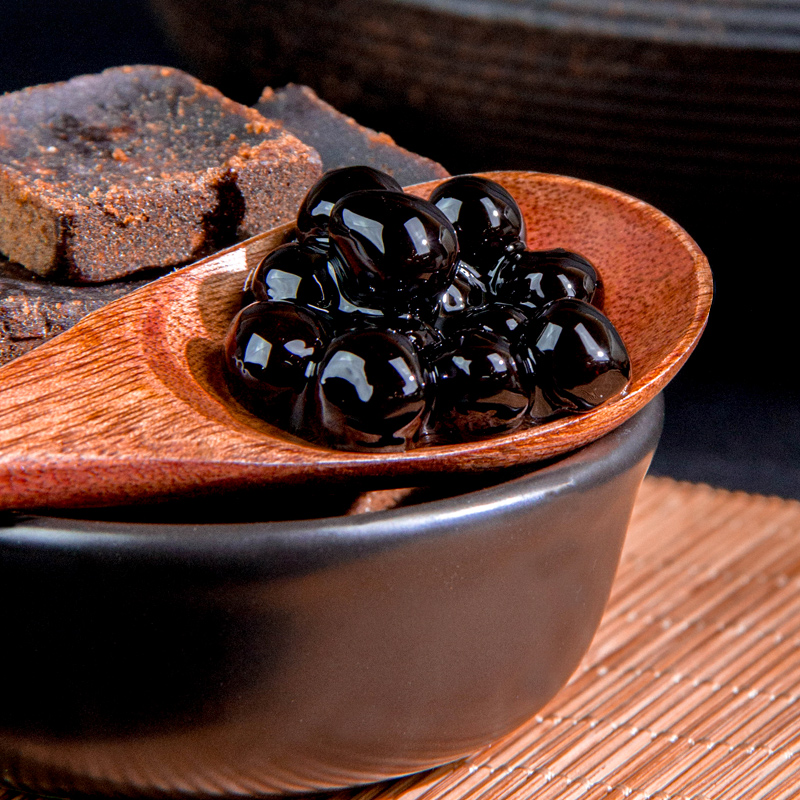 创实 黑糖珍珠粉圆1kg 原味珍珠奶茶店原料专用 快煮珍珠波霸珍珠