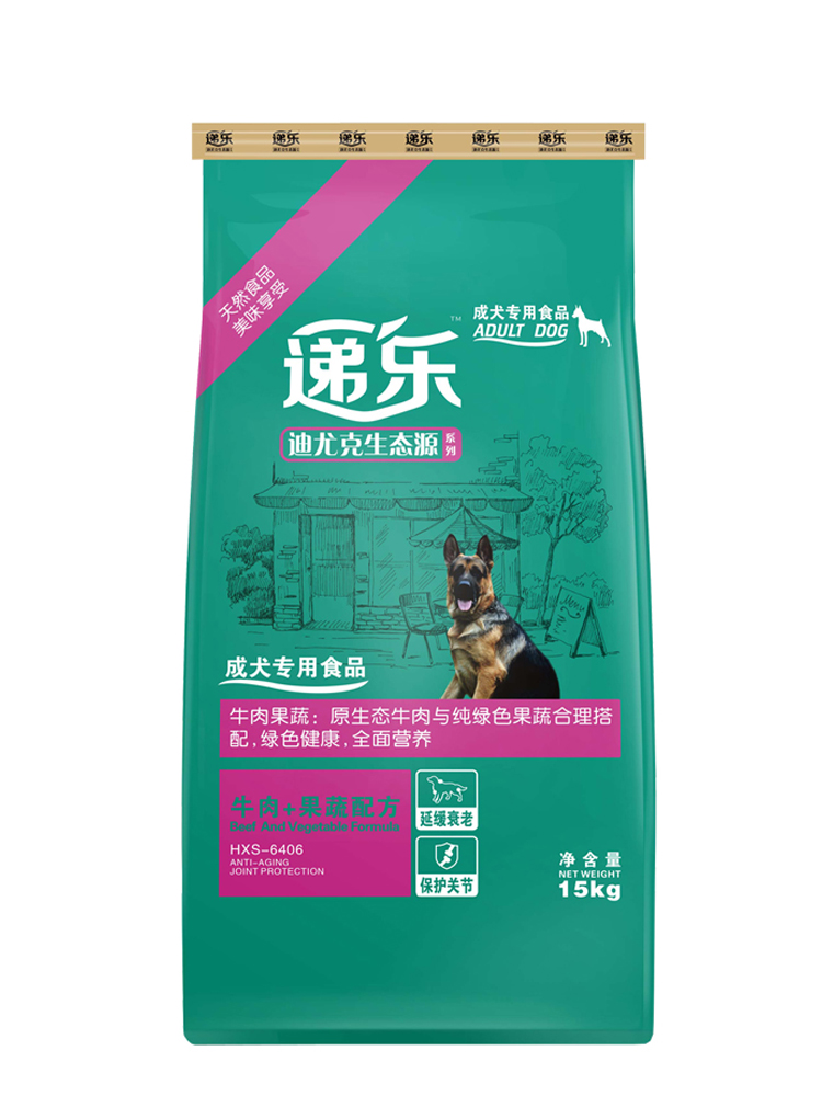 迪尤克狗粮通用型成犬15kg30斤金毛拉布拉多萨摩耶递乐狗粮大型犬优惠券