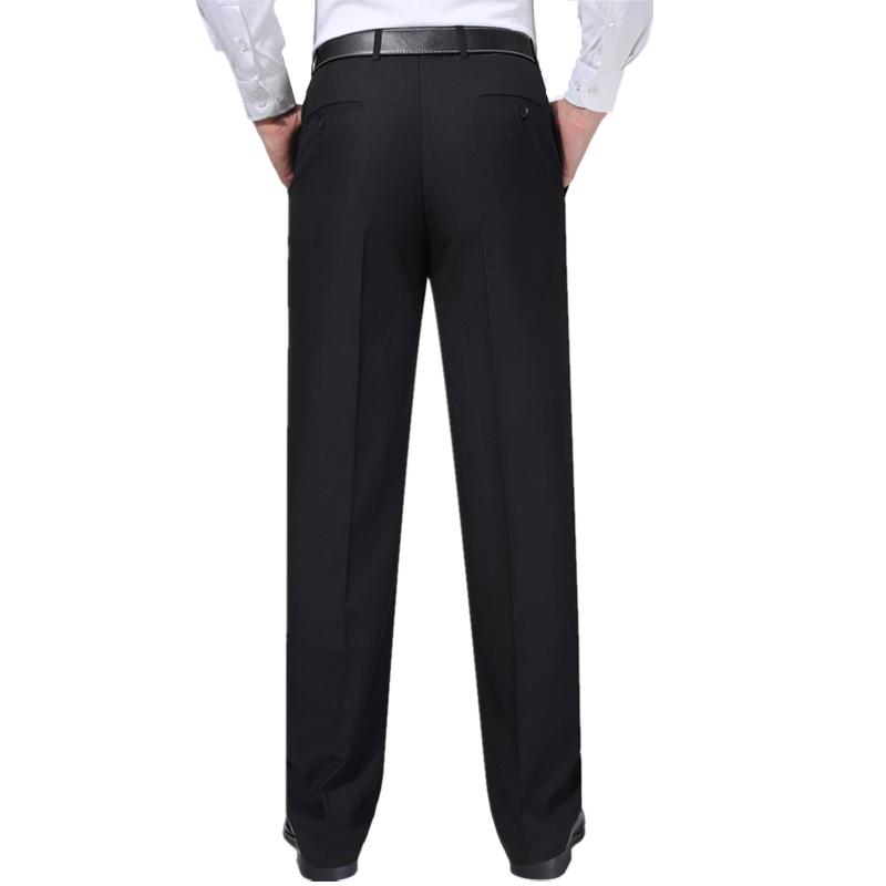 富貴鳥春夏薄款桑蠶絲西褲男士中青年直筒寬松商務休閑免燙西裝褲