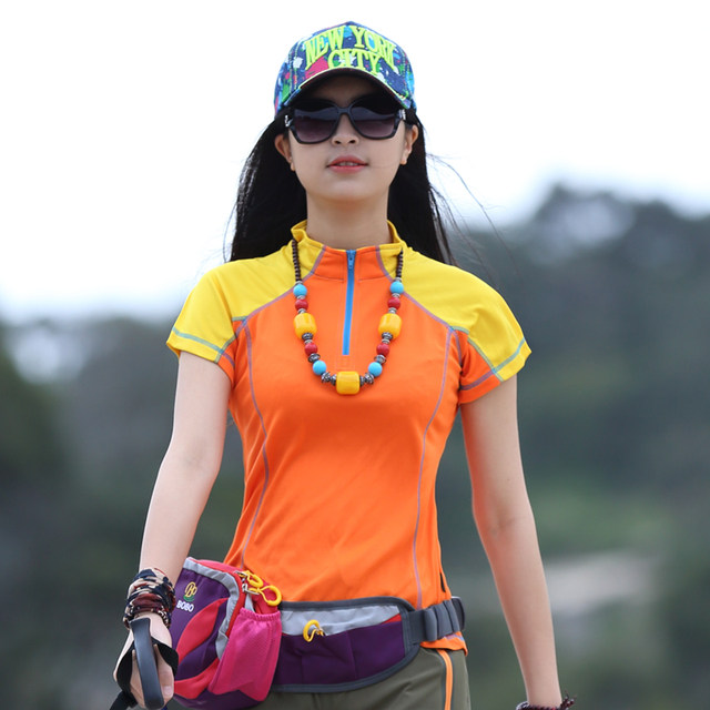 Summer thin outdoor sports women's long sleeve quick drying T-shirt short sleeve quick drying T-shirt running walking sun protection and ventilation